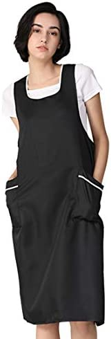 YUENA CARE Hairdresser Apron for Hair Stylist Salon Aprons with Pockets Barber Workwear Sleeveless Aprons