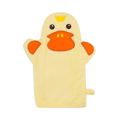 Baby Bath Mitt Ducky Puppet Washcloths for Kids Body Scrub Wash Cloth for Baby Baby Registry Search Name