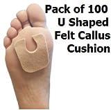 U Pads: Felt Callus Cushions - 100 per pack (100 per pack)