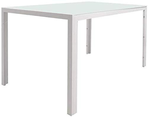 EBS My Furniture Mesa de Comedor Rectangular de Cristal con Patas ...