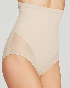 TC Fine Intimates Firm Control High-Waist Shaping Brief, S, Nude