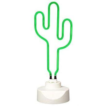 Lampe Neon Cactus Vert La Chaise Longue 37 1l 009 Amazon Fr