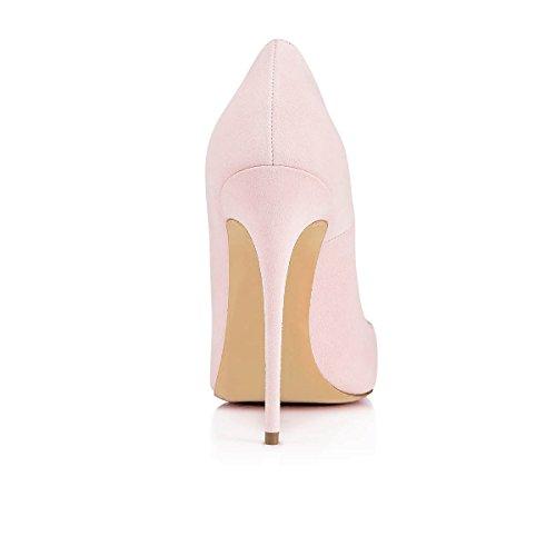 Talons Escarpins Rose Femmes Taille Grande Chaussures Talon Aiguille Stilettos Suede Ubeauty Femme S6wdzq6