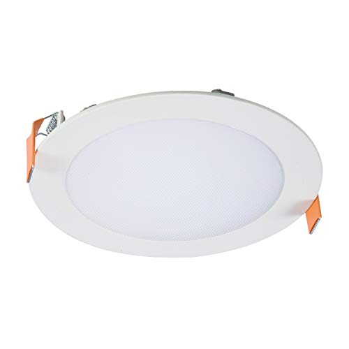Recessed Halo Light - Halo HLB6099301EMWR HLB 6 in. White Round Integrated 3000K CCT, (No Can Needed) LED Direct Mount Light,