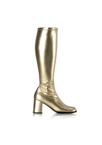 Funtasma by Pleaser Women's Gogo-300 Boot,Gold Stretch,9 M for $<!--$40.45-->