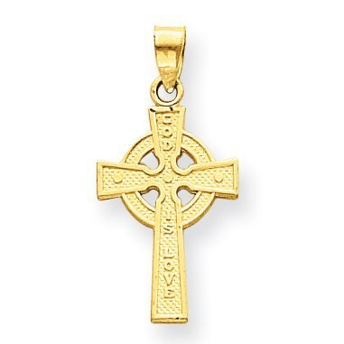 White Gold Large Celtic Cross - 6