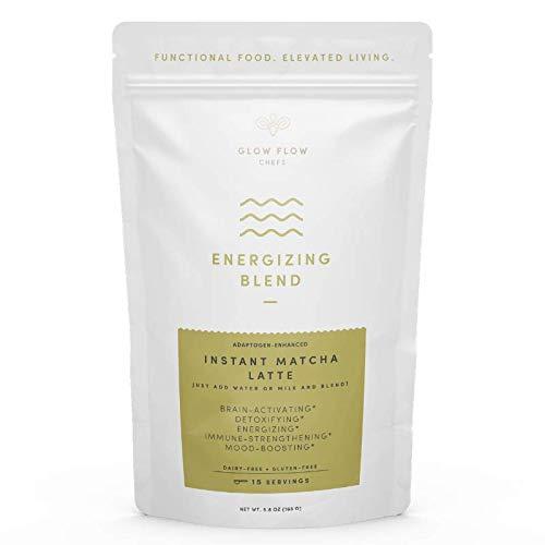 - Organic Instant Matcha Latte Powder with Matcha Green Tea & Adaptogens (Reishi, Ashwaganda, Lions Mane) to Energize, Detoxify. Vegan, Paleo, Keto-Friendly, No Added Sugar, 15 Servings (Matcha)