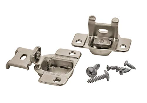 Amerock BP2811J23-14 1/2-Inch Overlay 2-Way Adjustable Concealed Matrix Blum Hinges, Nickel, 1 pair