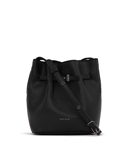 Matt & Nat Lexi Mini Bucket Bag, Black/Black ()