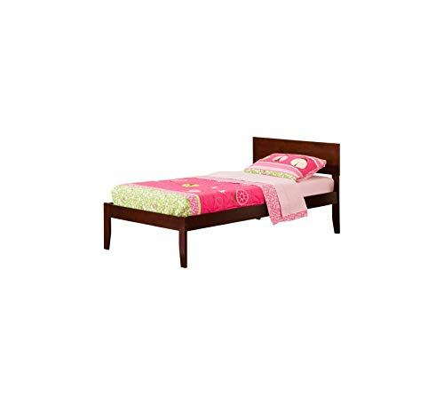 Wood & Style Orlando Platform Bed with Open Foot Board, Twin, Walnut Comfy Living Home Décor Furniture Heavy Duty (Designer Orlando Furniture)