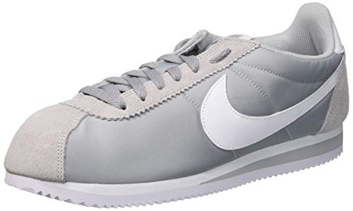 NIKE Men's Cortez Basic Nylon Casual Shoe Gray / Wolf Gray