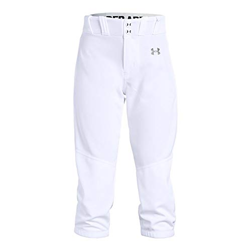 (Under Armour Girls Softball Pants, White, Youth Medium)