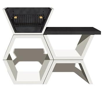 Barbacoa de Obra máximo diseño y calidad,De hormigón bruto hidrófugo blanco y negro 149