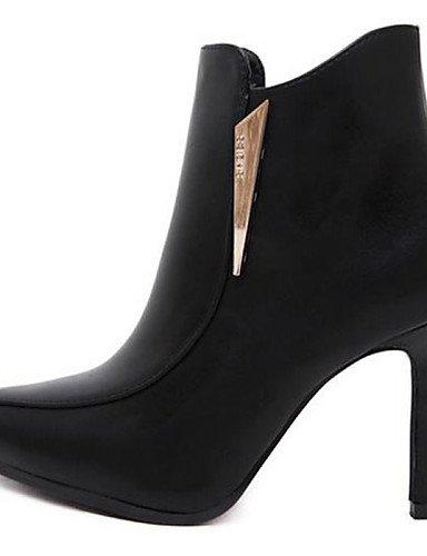 Gray De Stiletto Semicuero Xzz us8 Botas Gris Eu39 Casual Tacón Zapatos Uk6 Cn39 Mujer Puntiagudos Negro TIW5Pnq