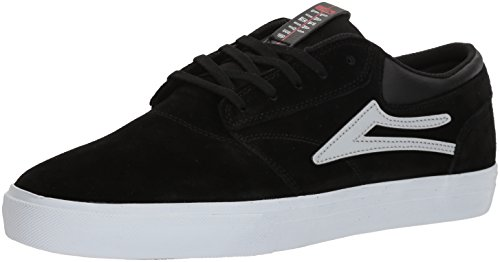Lakai Limited Footwear Mens Griffin, Black/Reflective Suede, 7.5 Medium US