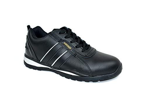 Bartium Scarpe Black Leather Antinfortunistiche Uomo 4Oqwr48