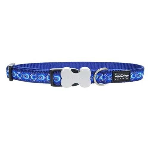 Red Dingo Designer Dog Collar, Large, Cosmos Dark Blue