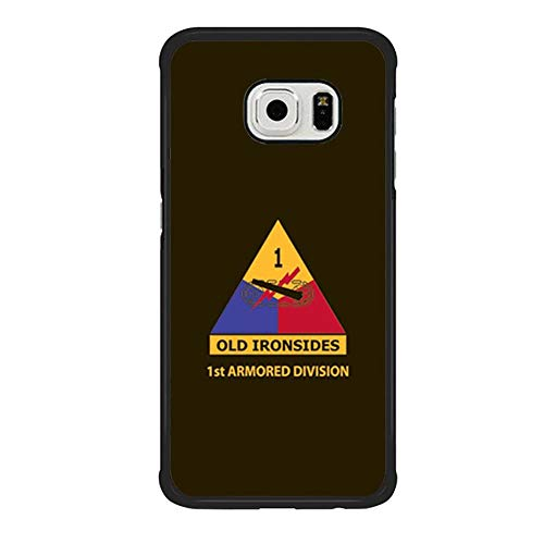 Skinsends United States Army - 1st Armored Division Phone Case Compatible with Samsung S6 Edge, The Dirty Dorito | Old Ironsides Hard Plastic Case Cover Compatible with Samsung Galaxy S6 Edge