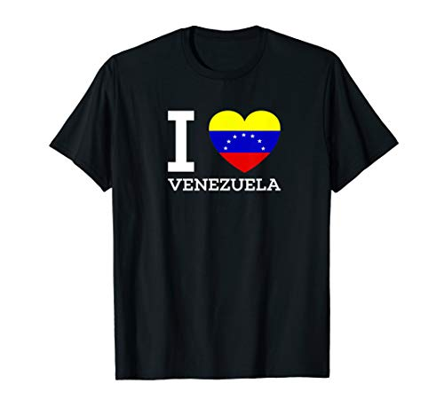 Flag Love Heart Venezuela - I Love VENEZUELA Flag Heart T shirt for Venezuela Lovers