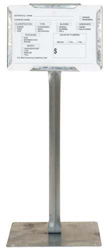Collier Metal Galvanized Steel Sign Holders, Pack of 25 - 7 x 5 Inch