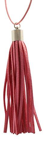 Premium Pink Essential Leather Tassel
