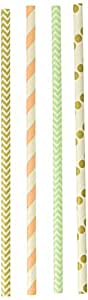 Charmed H&PC-55244 Paper Drinking Straws, Assorted