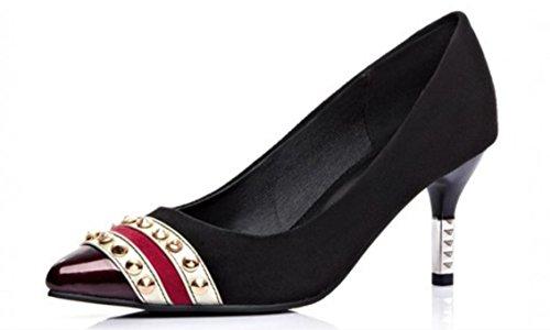 Donne YCMDM'S singoli pattini scarpe col tacco alto di primavera , black , 37