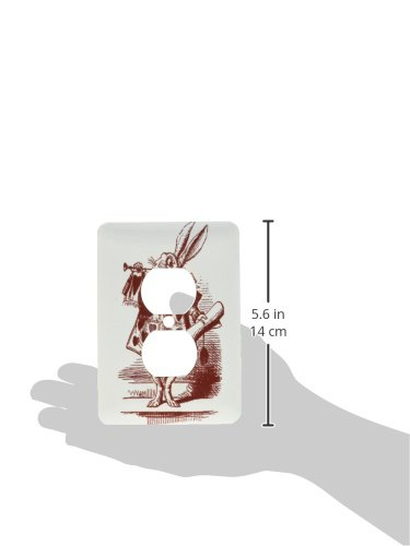 3dRose lsp/_179090/_6 White Rabbit From Alice in Wonderland Light Switch Cover