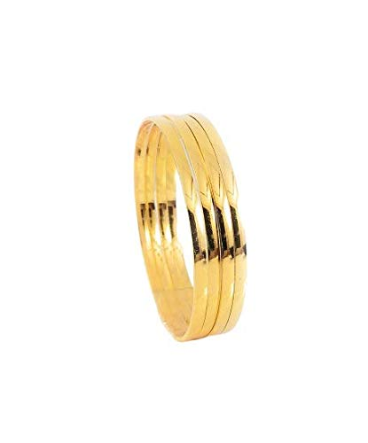 AFJ Gold 1 Gram Gold Plated Traditional Designer Trendy Stone Bangles Sets for Women & Girls