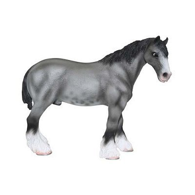 Foal Clydesdale (X-Large Clydesdale Grullo Sabino Figure)