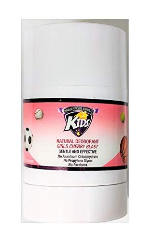 Junior Varsity Naturals Girls Cherry Blast Kids Deodorant 2.93 Ounces