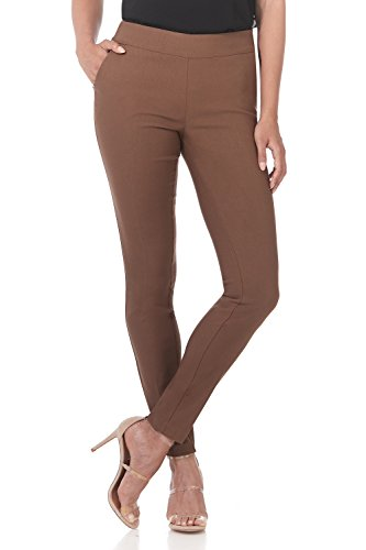 Rekucci Women's Ease in to Comfort Modern Stretch Skinny Pant w/Tummy Control (14,Chestnut)