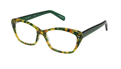 Orchard Street - Angular Trendy Fashion Reading Glasses for Men and Women - Pineapple/Green (+1.75 Magnification Power) (Glasses Scojo Street Reading)