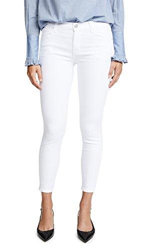 J Brand Jeans Women's 835 Mid Rise Capri Jean, Blanc, (Designer Capri Pants)