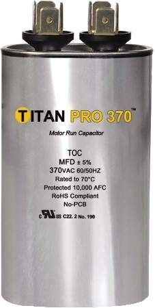 Packard Titan Pro Motor Run Capacitor Oval Toc15 from GCP