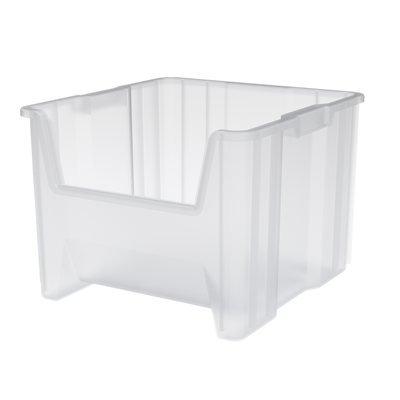Akrobin Clear Stak-N-Store Bins, Storage Container 17-1/2