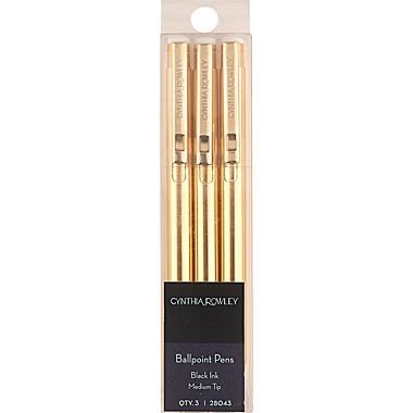 Cynthia Rowley Retractable Ballpoint Pens, 3 Pack from Cynthia Rowley
