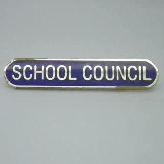 Pack of 10 Blue School Council Enamel School Bar Badge