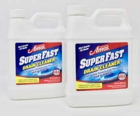 Professor Amos' SuperFast 2-Pack -32oz Drain Cleaner & Drain Opener Liquid