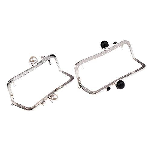 0cm Metal Purses Frame Kiss Clasp Lock Bag Handle for DIY Sewing Clutch ()