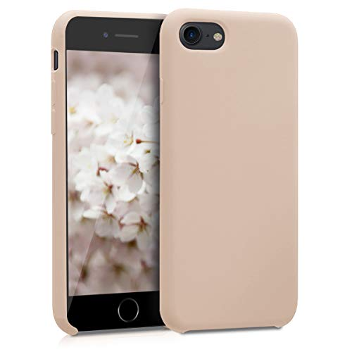 (kwmobile TPU Silicone Case for Apple iPhone 7/8 - Soft Flexible Rubber Protective Cover - Mother of Pearl)