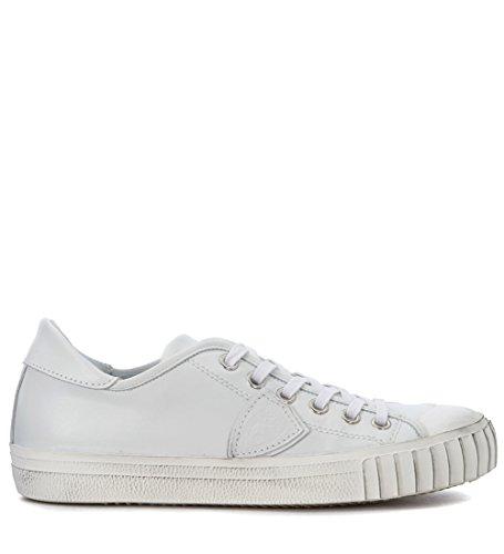 Modello Sneaker Philippe Modello Gare In Pelle Bianca Bianca