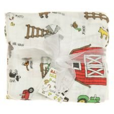 Imagine Baby Products Bamboo Swaddling Blanket (Barnyard Friends)