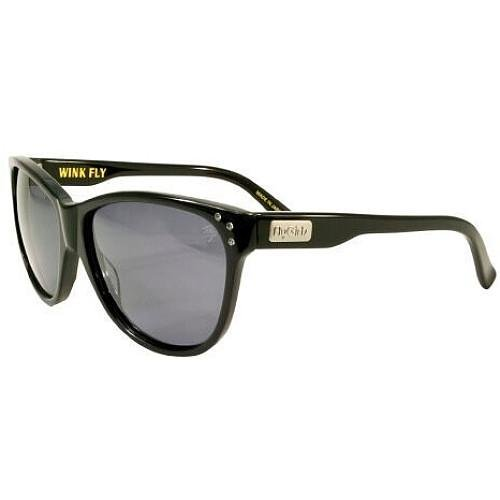 FLY GIRLS WINK FLY SUNGLASSES SHINY BLACK/SMOKE LENS by Black Flys