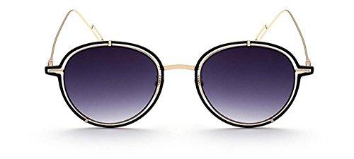 métallique de Cendres cercle soleil vintage polarisées en inspirées retro du Double style rond Lennon lunettes P1qZRdg1