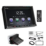 1 - 7'' Double-DIN DVD/MP3/CD & AM/FM Receiver (With Bluetooth(R)), Double-DIN 7'' motorized touchscreen monitor, Bluetooth(R)-enabled/audio streaming & hands-free, BV9757B