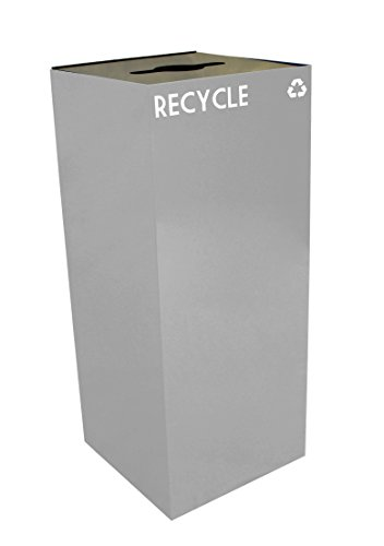 Witt 36GC04-SL GeoCube Recycling Receptacle with Combinat...