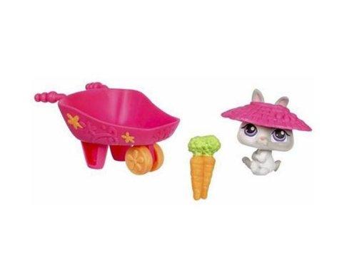 Littlest Pet Shop - Portable Pets - Set Hase   215 mit Schubkarre