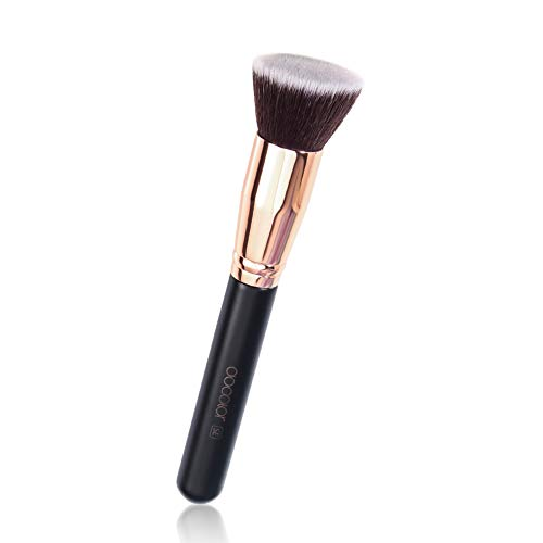 Docolor Makeup Brushes Foundation Kabuki Synthetic Buffing Stippling Liquid Cream Blending Tools (Using A Stippling Brush With Liquid Foundation)