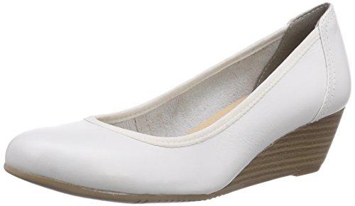 Tamaris 22320 - zapatos de tacón cerrados de cuero mujer blanco - blanco (White 100)